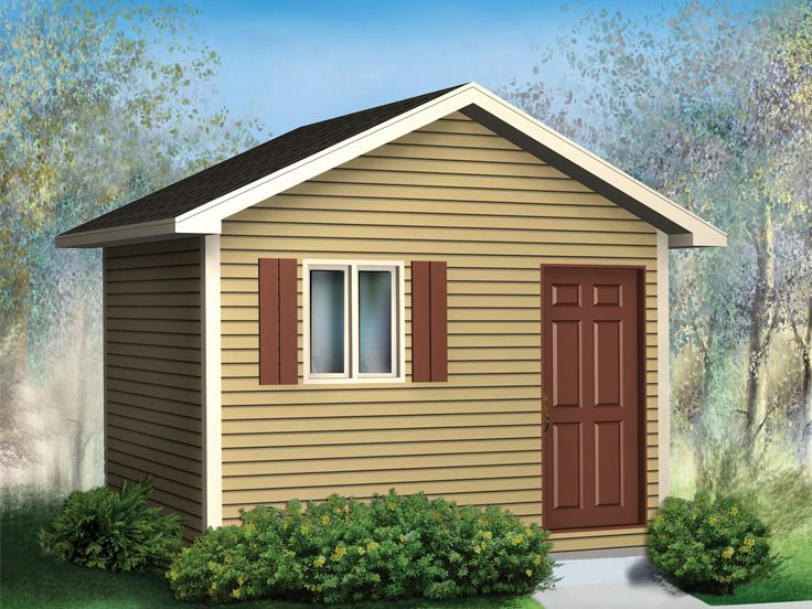 Multi-Size Storage Shed Plan, 072S-0006