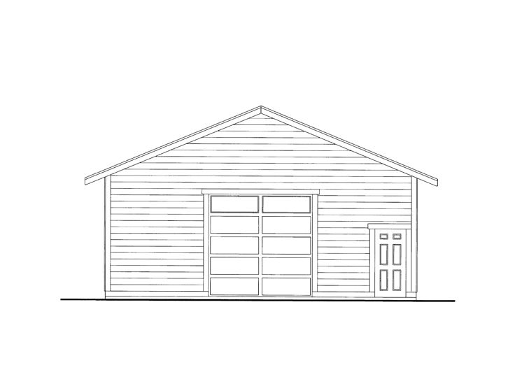 Garage Workshop Plan, 012G-0070