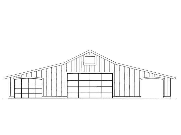 Garage Workshop Plan, 012G-0058
