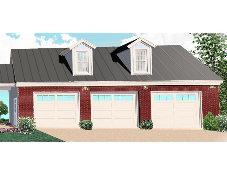 3-Car Garage Plan, 006G-0073