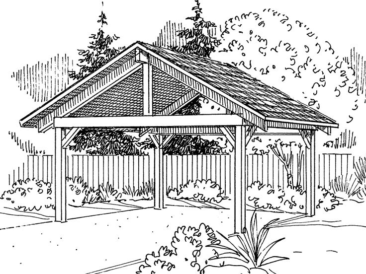 Woodwork set of simple carport plans pdf plans for Draw garage plans online free