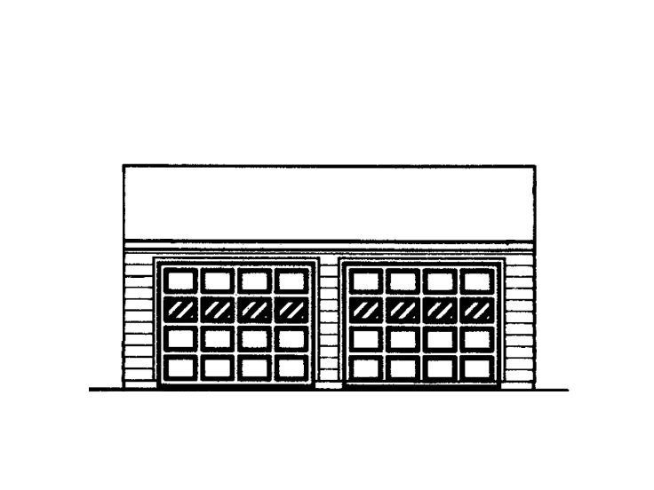 Two-Car Garage Design, 057G-0011