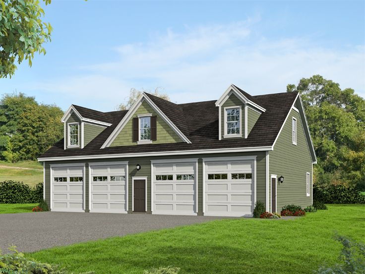 Tandem garage plans tandem garage plan with loft 062g for 4 car garage home plans