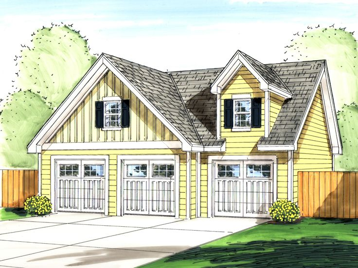 Garage loft plans detached 3 car garage loft plan design Garage designs with loft