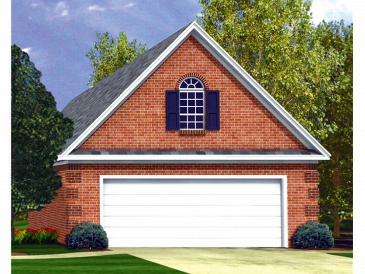 Garage loft plans 2 car garage loft plan 001g 0002 at for Garage with attic