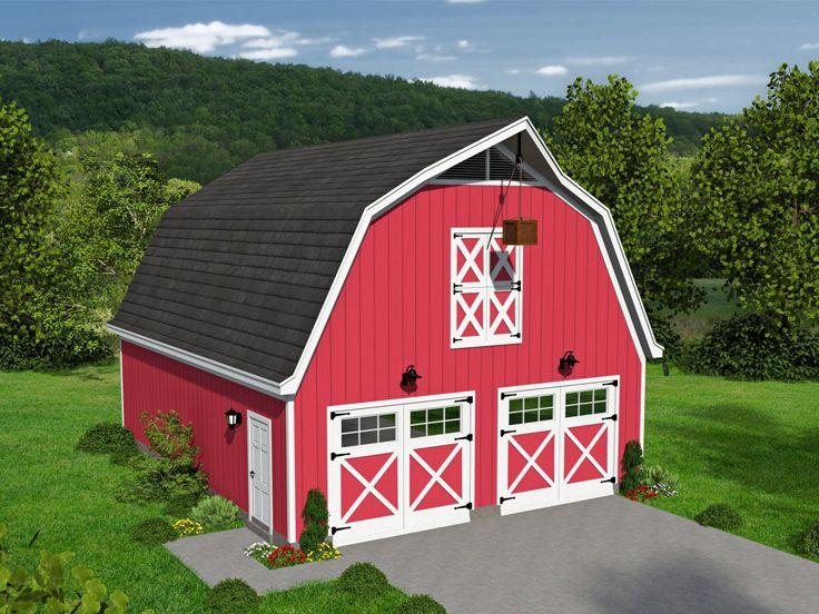 Barn-Style Garage Loft Plan