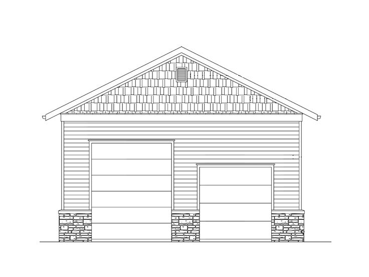 Rv garage plans rv garage plan with loft 024g 0002 at for Workshop plans with loft