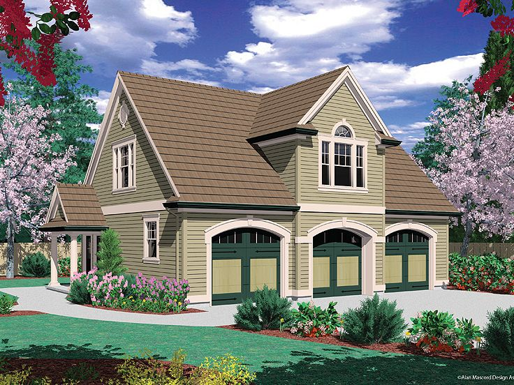 Carriage House Plan, 034G-0012