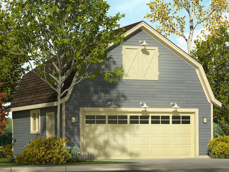 2 car garage plans two car garage plan with gambrel roof for Gambrel garage kit