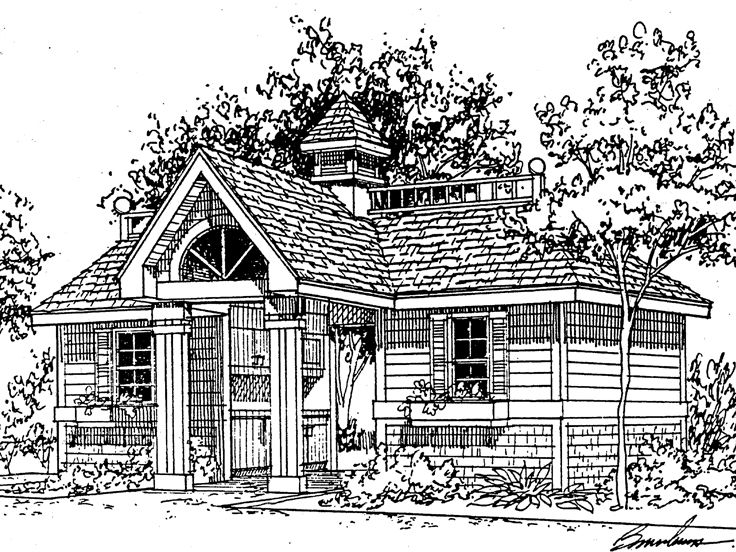 Pool House Plan, 057X-0001