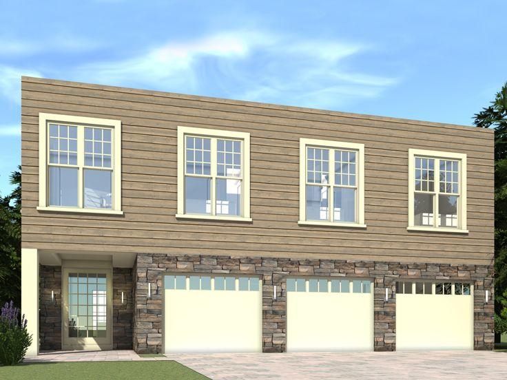 Carriage House Plans | Modern 3-Car Carriage House Design ...