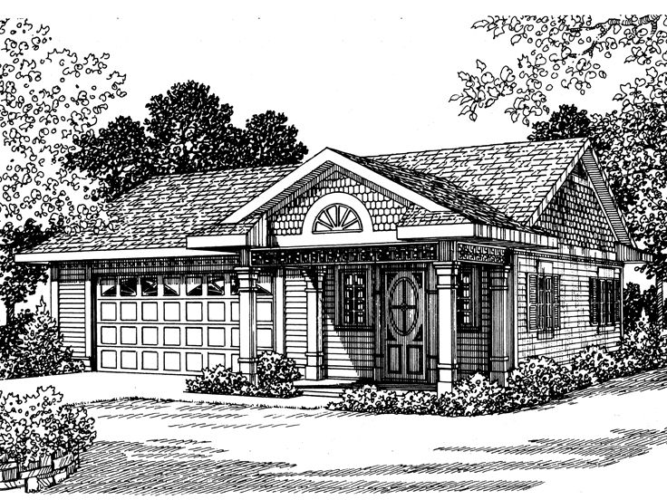 Garage Plans With Flex Space Traditional 2 Car Garage