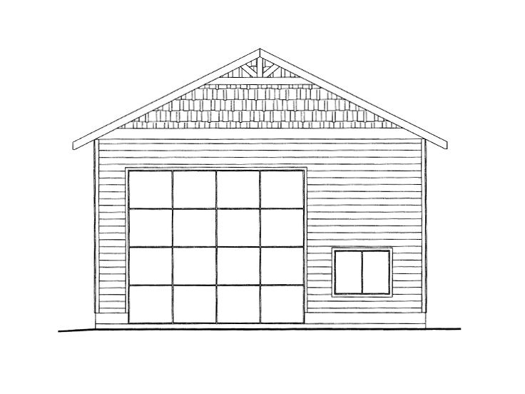 RV Garage Plan, 012G-0049