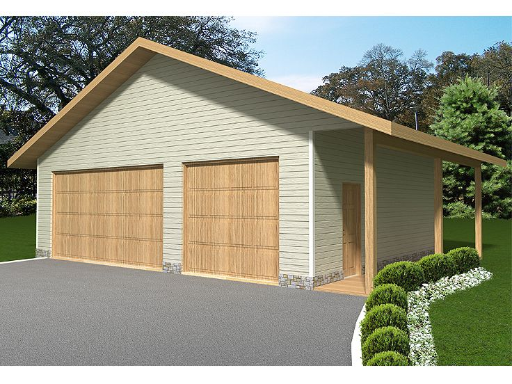 Three-Car Garage Plan, 012G-0035
