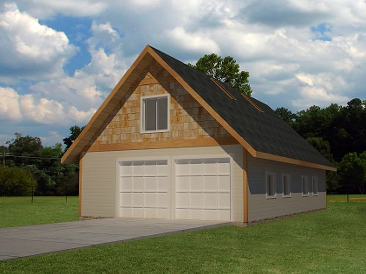 Drive-Thru Garage Plan, 012G-0071