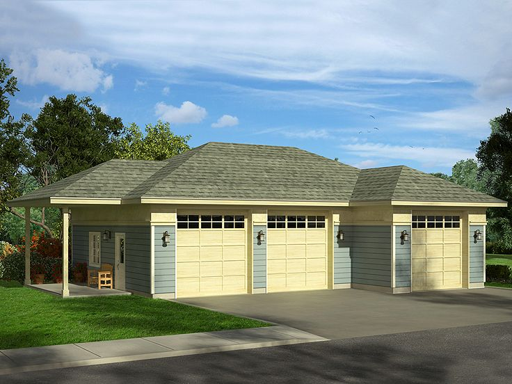 Plan 051g 0097 garage plans and garage blue prints from for Garage plans with boat storage