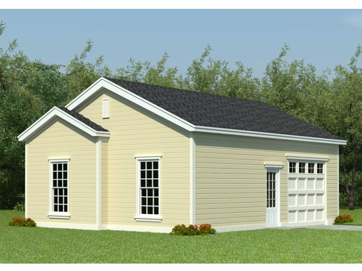 Storage garage plans one car garage plan with large for Garage plans with shop space