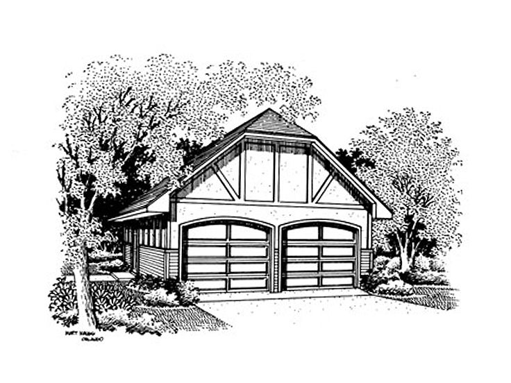 Garage Plan with Storage, 021G-0007