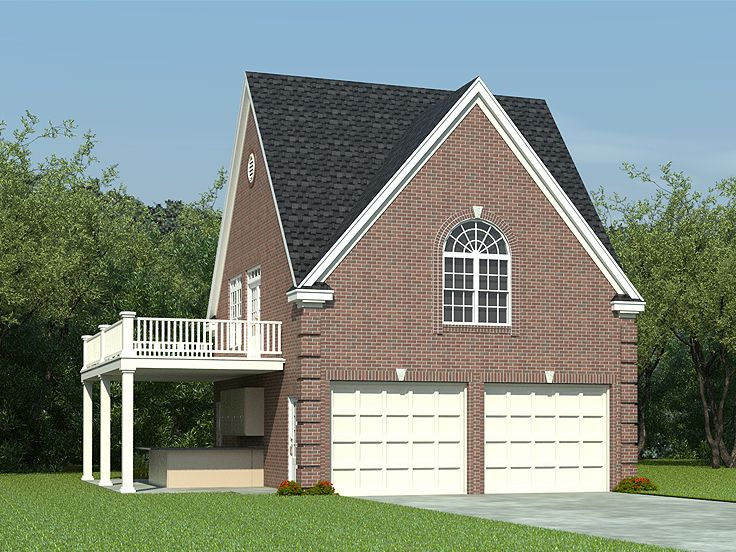 Carriage house plans carriage house plan with makes cozy for Garage designs with living quarters