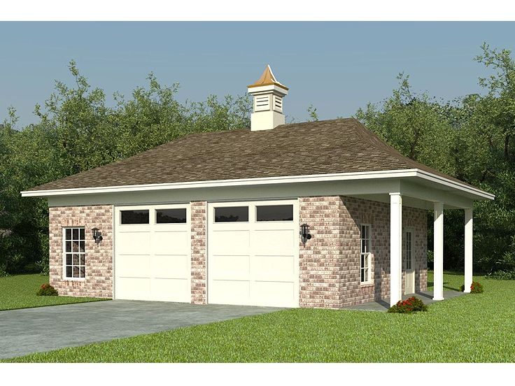 Garage plans with porch 18 free diy garage plans with for Porch garage