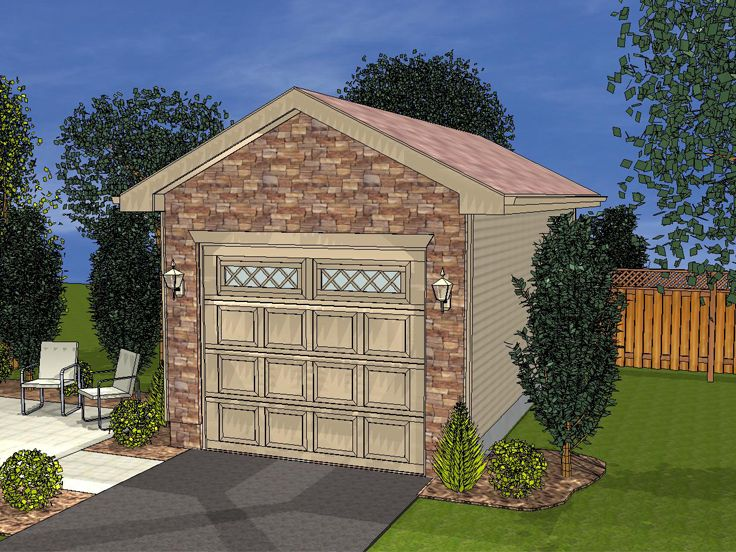 1 Car Garage Plans Detached One Car Garage Plan With