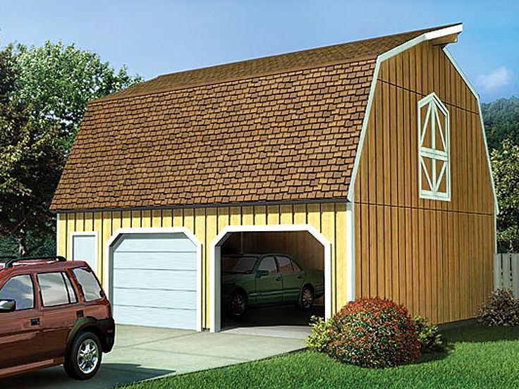 Barn-Style Garage Plans | Multi-Size Barn-Style Garage ...