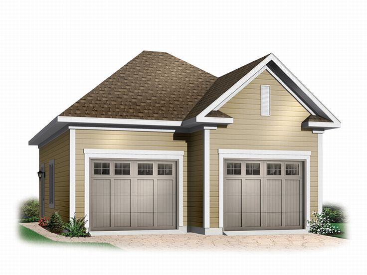 Boat storage garage plans 2 car boat storage garage plan for Garage designs with loft