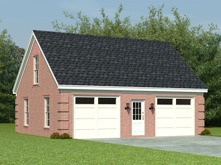 Two car garage plans 2 car garage loft plan with split for Two car garage with workshop plans