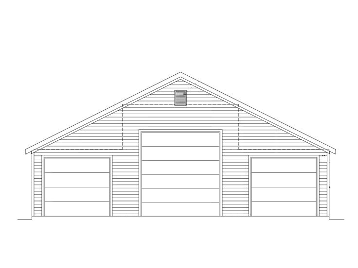 Tandem garage plans rv garage plan with two tandem for Rv garage door dimensions