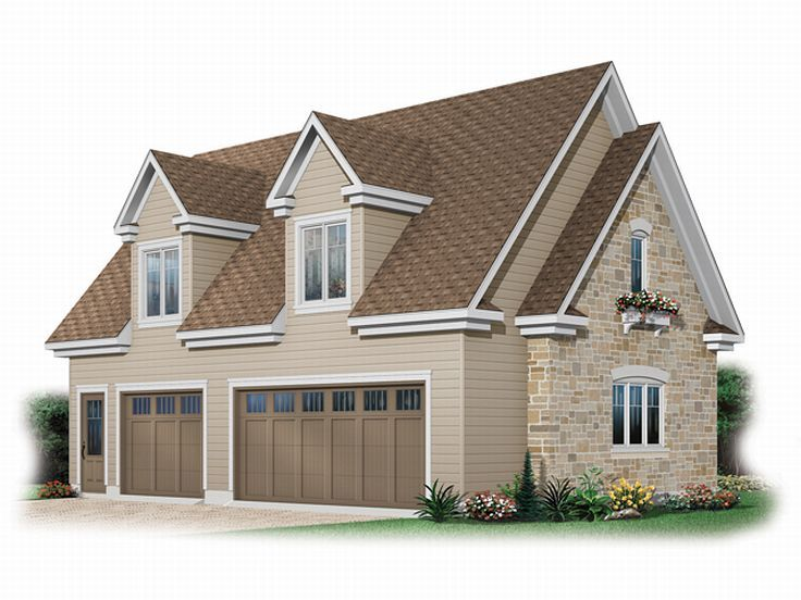 Garage loft plans three car garage loft plan 028g 0026 for Garage designs with loft