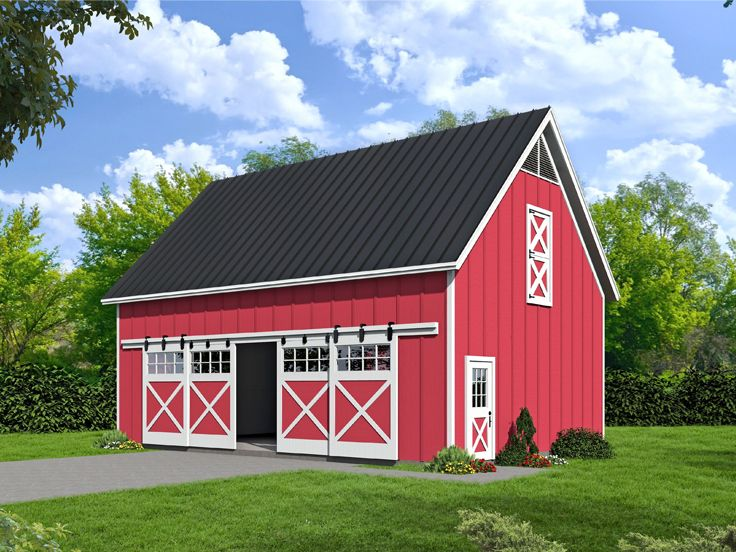 Barn Plan with Loft, 062B-0004