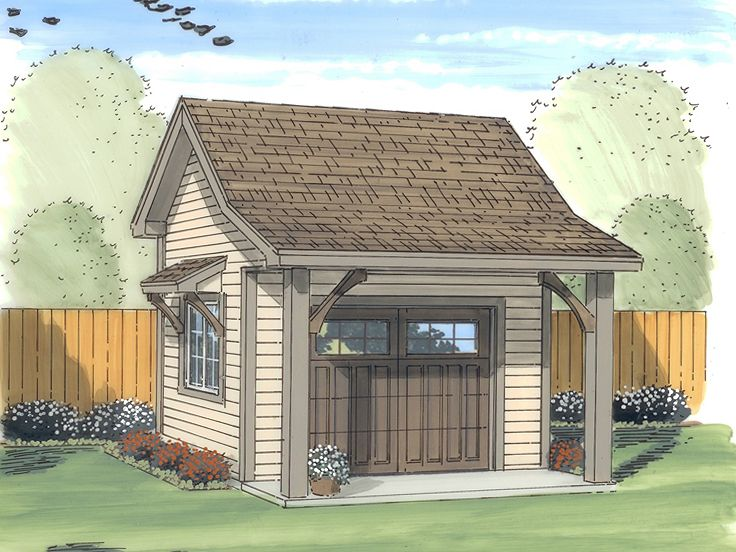 Shed plans storage shed plan with overhead door design for Storage shed overhead door