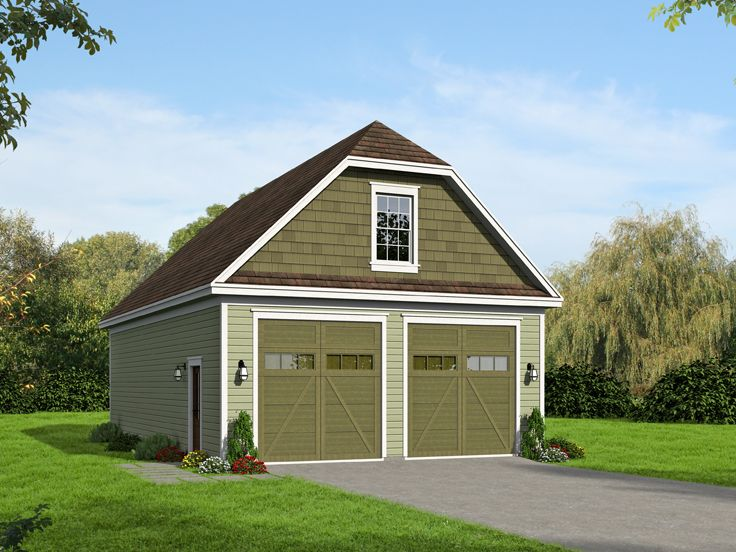 RV Garage Plan With Two RV Bays Plan