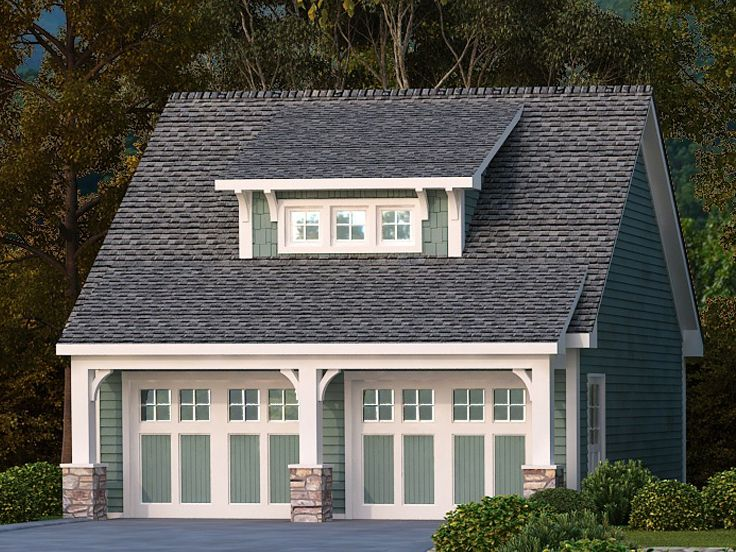 Two car garage plans craftsman style 2 car garage plan for How big is a two car garage