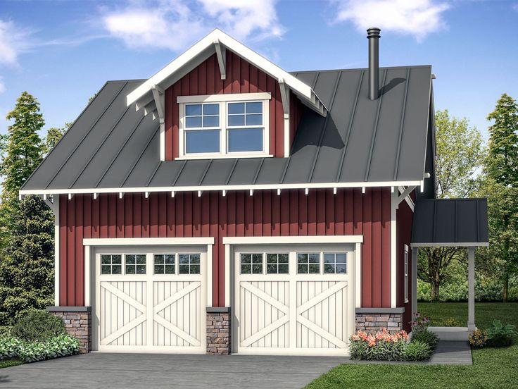 Plan 051g 0109 garage plans and garage blue prints from for Garage plans with shop space