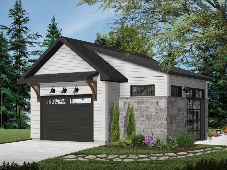 One-Car Garage Plan, 028G-0062