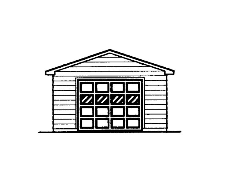 Single-Car Garage, 057G-0009