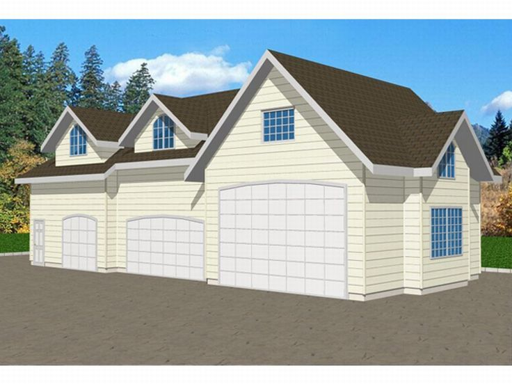 Plan 012g 0008 garage plans and garage blue prints from for Rv storage plans