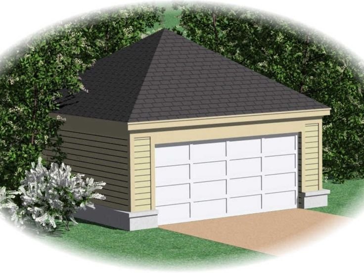 2-Car Garage Plan, 006G-0020