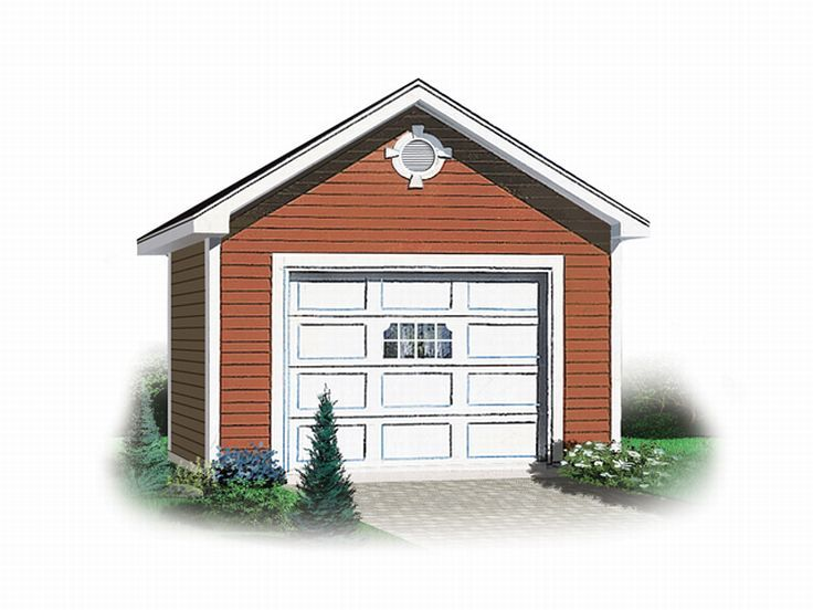 One car garage plans detached 1 car garage plan 028g for Single car detached garage plans