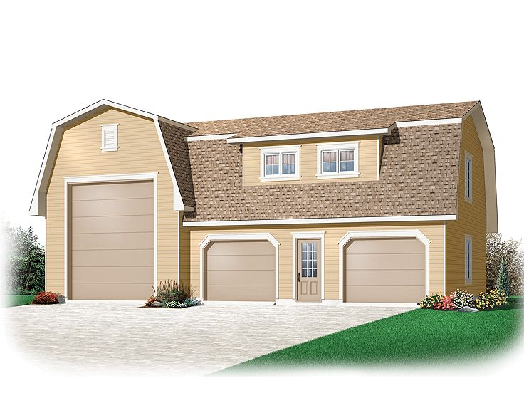 Rv garage plans rv garage plan with gambrel roof 028g for Rv garage