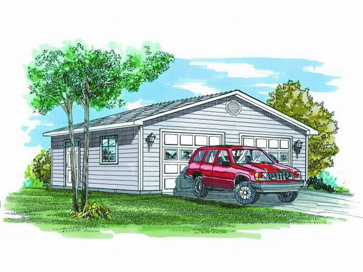 2-Car Garage Plan, 033G-0008