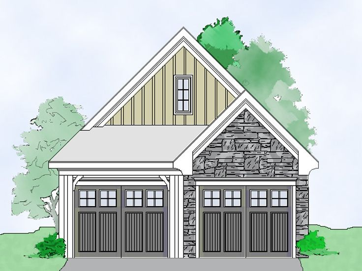 2-Car Garage Plan, 053G-0016