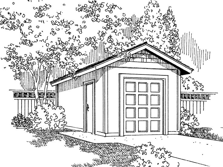 Storage Shed Plan, 051S-0002