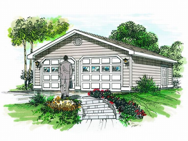 2 Car Garage Plans Two Car Garage Plan With Reverse