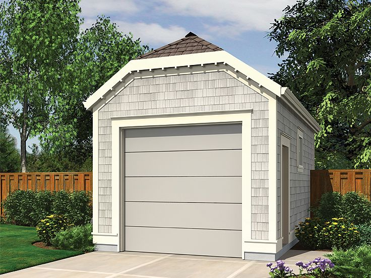 1 Car Garage Plans One Car Garage Plan With Clipped
