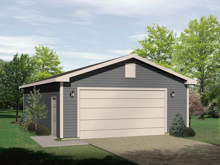 Plan 005g 0074 garage plans and garage blue prints from for Garage boat storage