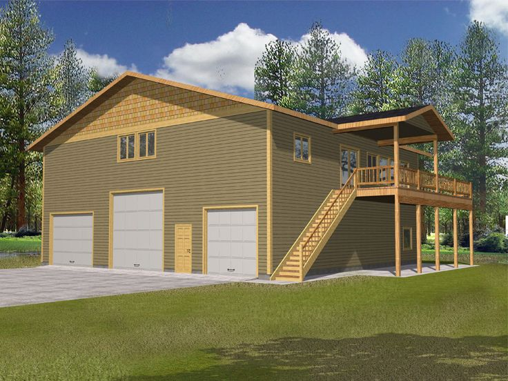 Plan 012g 0098 garage plans and garage blue prints from for Rv apartment plans