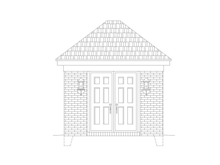 Storage Shed Plan, 006S-0001