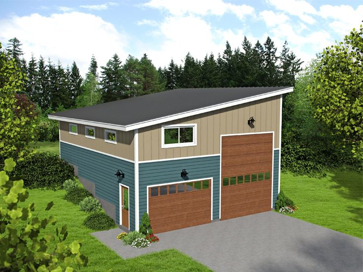 Plan 062g 0099 garage plans and garage blue prints from for Modern garage plans with loft